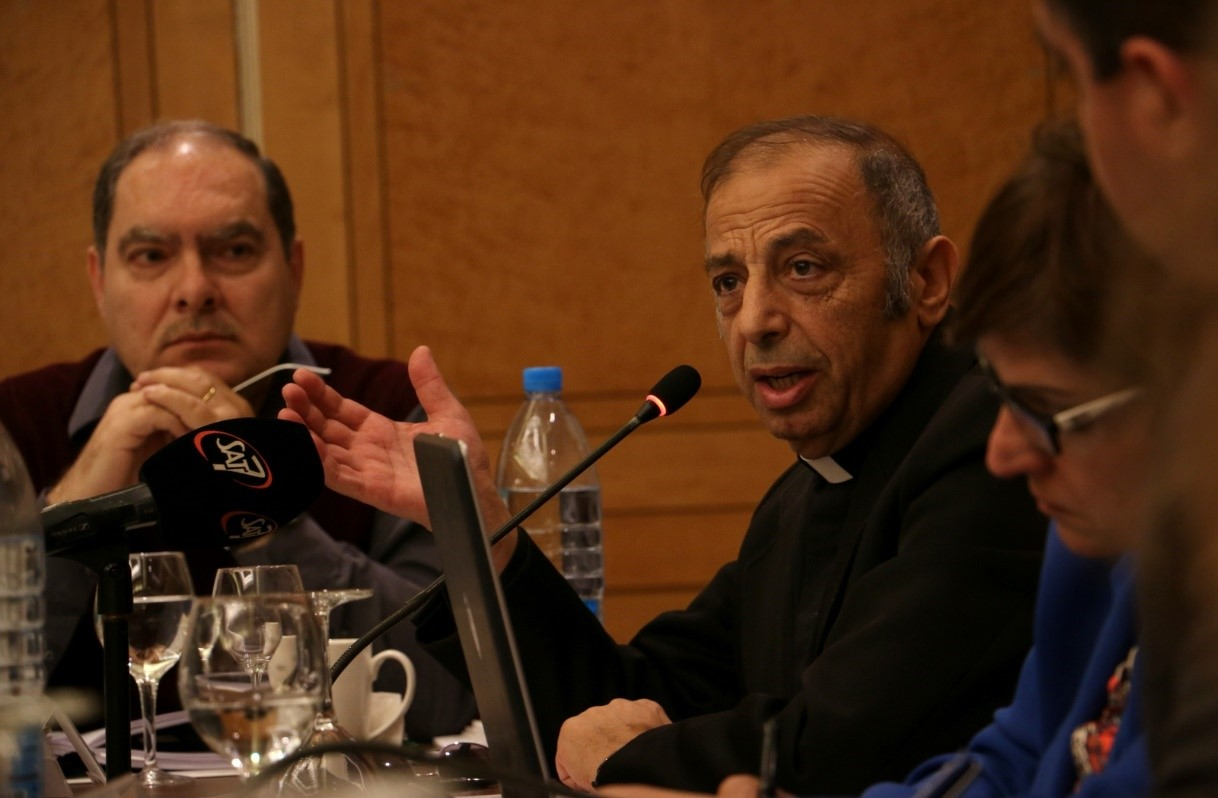 Father Peter Madrous is a priest in Palestine and writes weekly in a Palestinian newspaper.