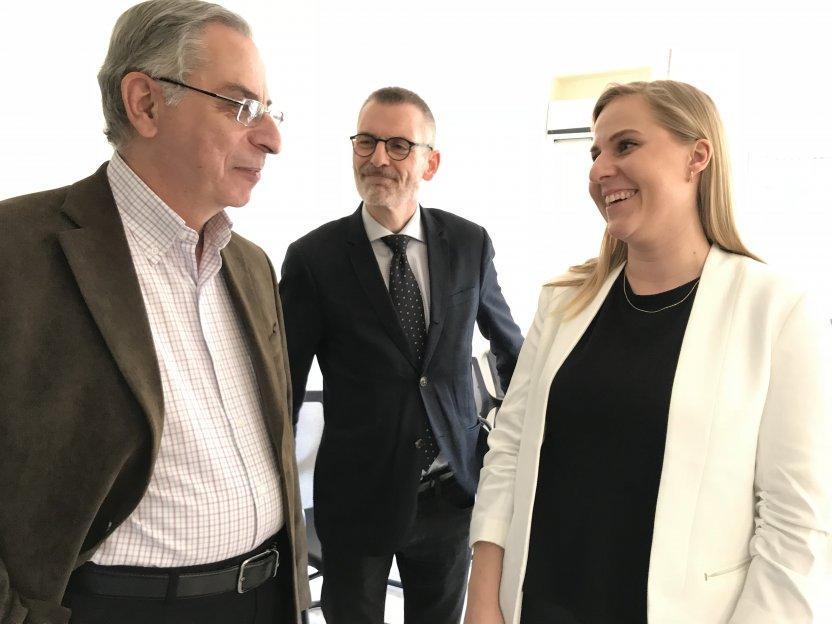 Dr. George Sabra (President of Near East School of Theology), Jørgen Skov Sørensen and Danmissions programme consultant Line Ramsdal.